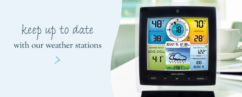 Keep up to date with our weather stations