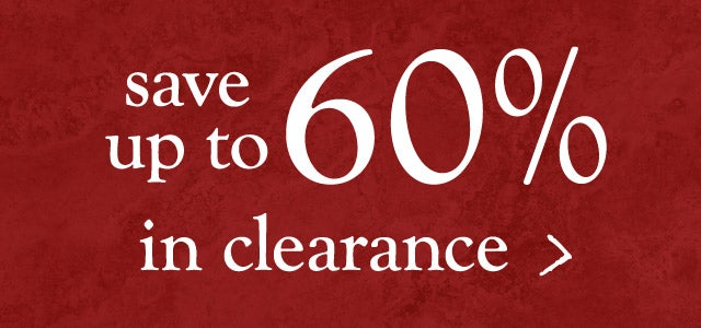 Winter clearance - save up to 60%