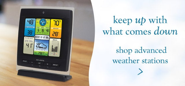 Keep up with what comes down - shop advanced weather stations