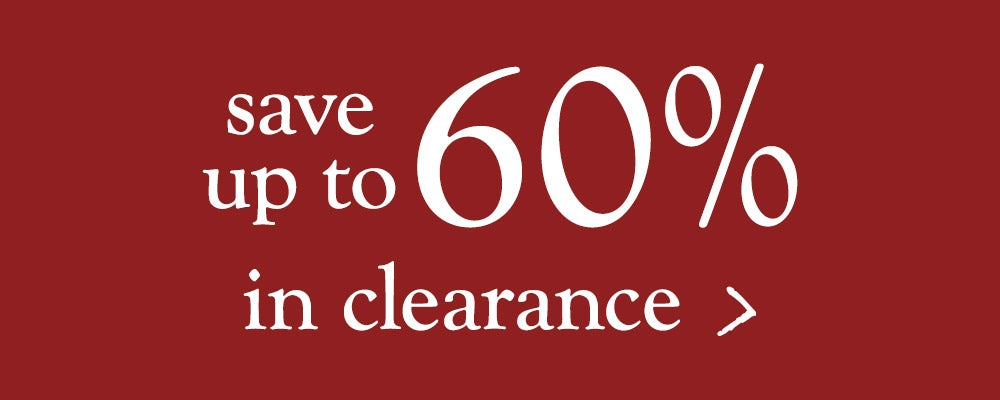 save up to 60% in clearance