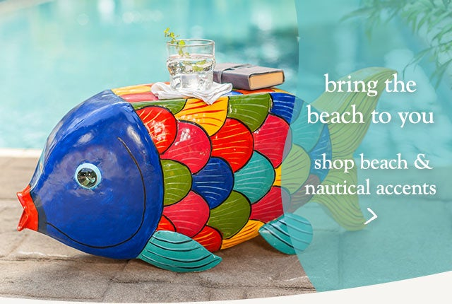 Bring the beach to you - shop beach & nautical accents