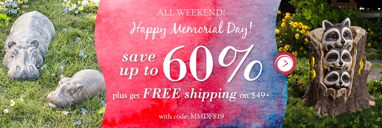 Memorial Day Weekend Sale: Save up to 60% plus get Free Shipping on $49+ with code MMDFS19