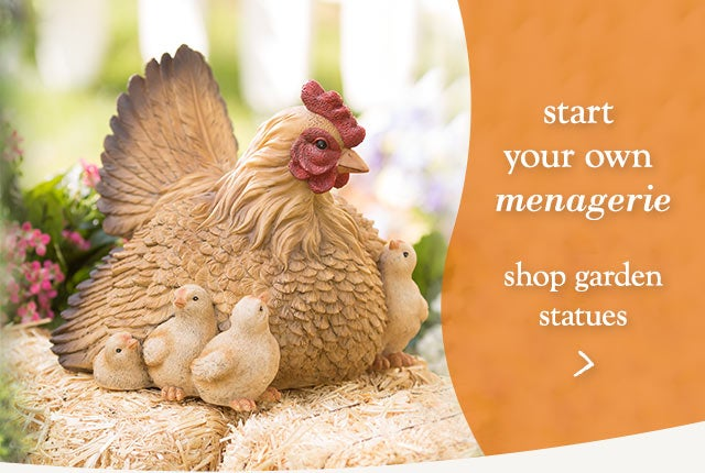 Start your own menagerie - shop garden statues