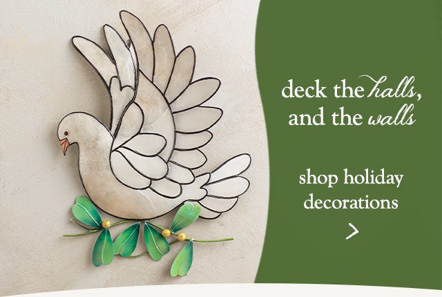 Deck the halls and the walls! Shop Holiday Decorations