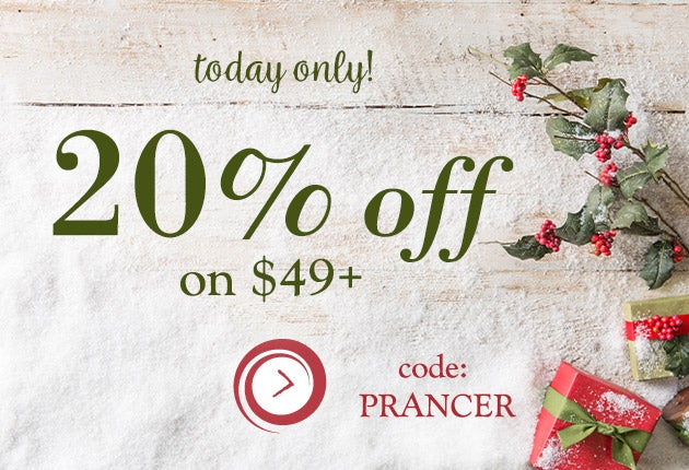 Today only! 20% off sitewide on $49+. Code: PRANCER  Shop Now