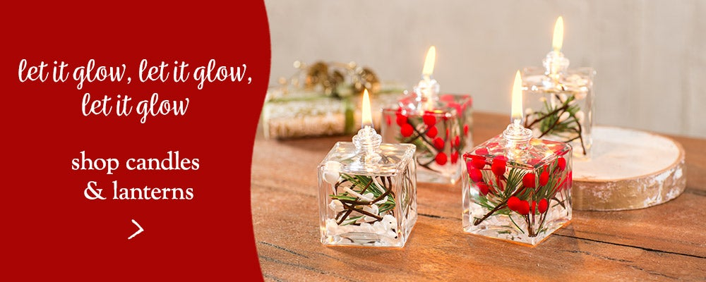 Let it glow, let it glow, let it glow! Shop candles & lanterns.