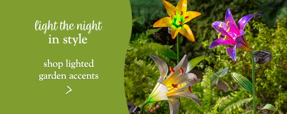 light the night in style - shop lighted garden accents