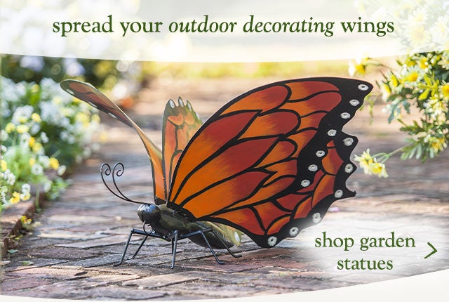 Spread your outdoor decorating wings. Shop garden statues