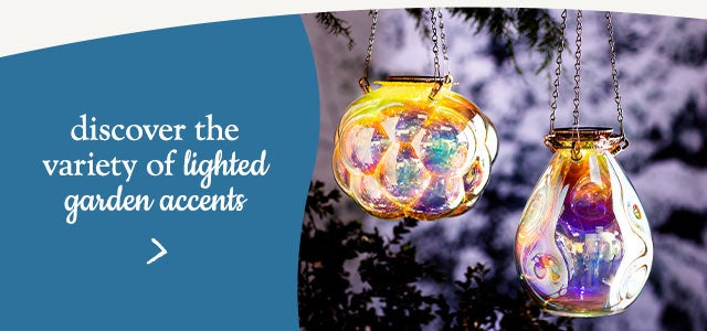 Discover the variety of lighted garden accents.