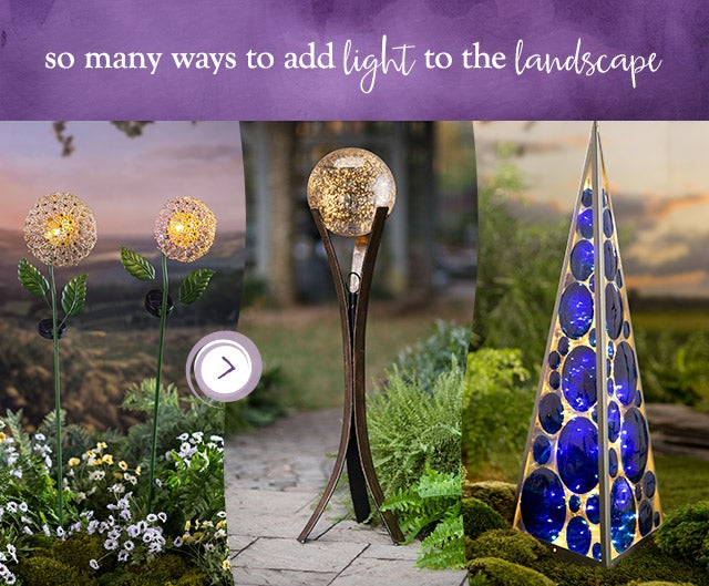 our glowing garden accents are deLIGHTful