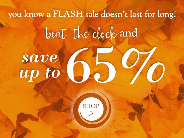 you know a FLASH sale doesn't last for long!